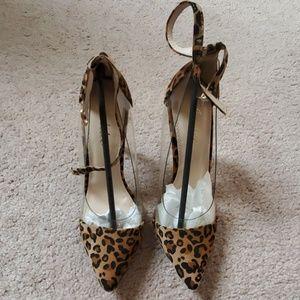 Leopard Print See Through Heel